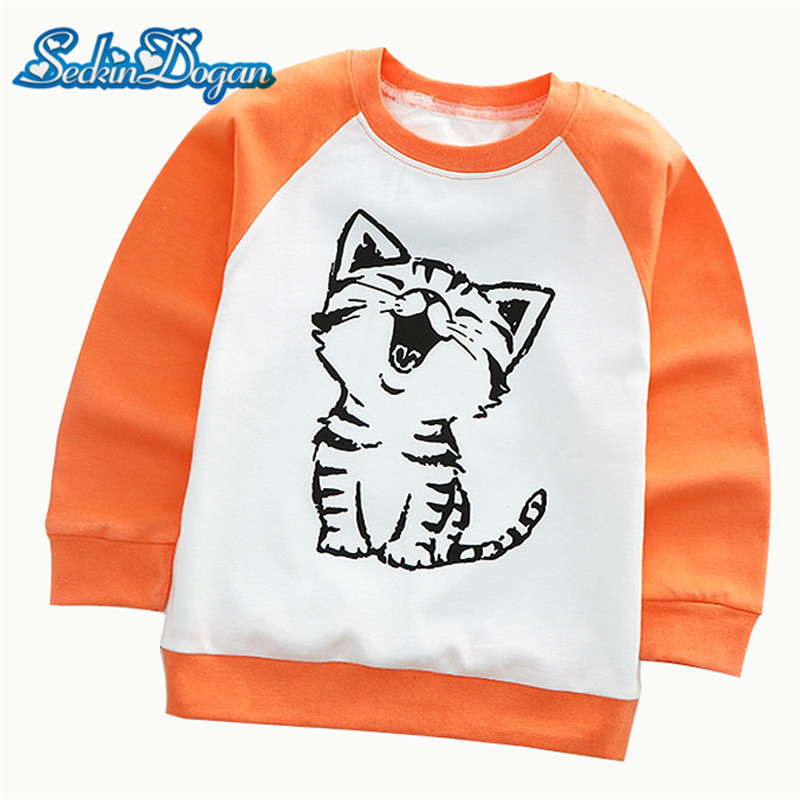 SeckinDogan Baby Sweatshirt Fashion Cotton Long Sleeve Baby Girls Sweatshirts Cartoon Animal Hoodies Casual Baby Boy Clothes baby long sleeve sweatshirt with a hood cardigan fleece sweatshirt romper velvet trousers set baby boy