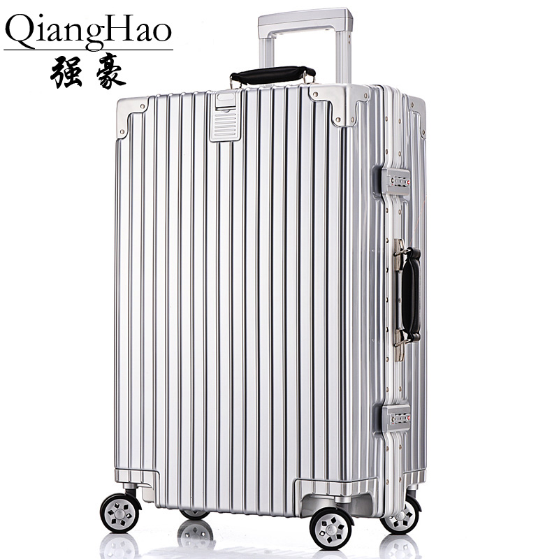 Aluminum frame men and women  Shell Luggage,Mute universal wheel Suitcase,Light Rolling Travel Bag,Trolley Case Box with Hook