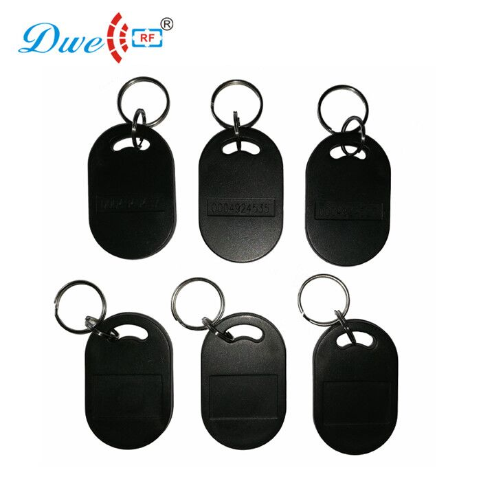 DWE CC RF access control cards abs 100pcs rfid 125khz tk4100 waterproof  key tag rf id door keyfobs