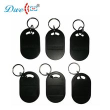 купить DWE CC RF access control cards abs 100pcs rfid 125khz tk4100 waterproof  key tag rf id door keyfobs дешево