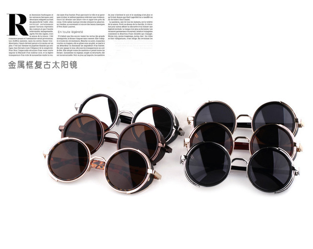 015f098566e 2015 New Fashion European Style Round Shape Sunglasses Women Men Lady  Unisex Sun Glasses Female Eyewear Accessories LFZ7