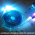 Smile face 8 pin LED visible light luminous usb sync data charge charging cable for iphone se 5c 5S 6 6s plus ipad pro 5 air