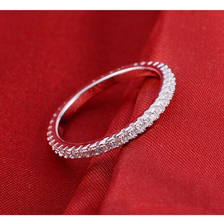 0.55CT 18K White Gold Diamond Engagement Gold Ring For Women ...