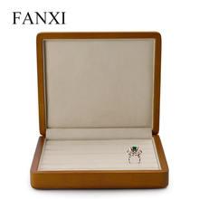 Fanxi Твердые Деревянные ювелирные изделия дисплей кольцо держатель