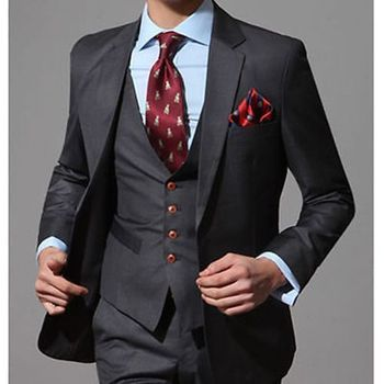 Fashion Men's Wedding Suits Tuxedos Bridegroom Suits Groomsman Suit Formal Suits