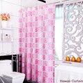 Peva banheiro impermeável cortina de chuveiro flor rosa 200 cm * 180 cm