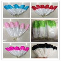 Wholesale! 200pcs Hard Rod dyeing Turkey Feathers 10 12inch/25 30cm for Your Crafts