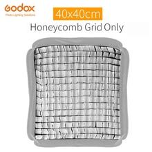 "Godox 40x40 cm 15 ""x 15"" grille en nid dabeille pour Godox s type Studio Speedlite Flash Softbox (grille 40*40 cm seulement)"