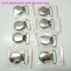 """Image 2 - 25PCS 1"""" 25mm #02 WHITE Color Teddy Bear Suspender Clips Pacifier Holder Clips"""