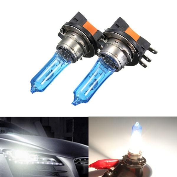 2х h15 ксенон Лампа 12В 55ВТ фары Лампа ДРЛ для HID 6000К синий стекло свет автомобиля супер Белый для Audi/Фольксваген/Гольф