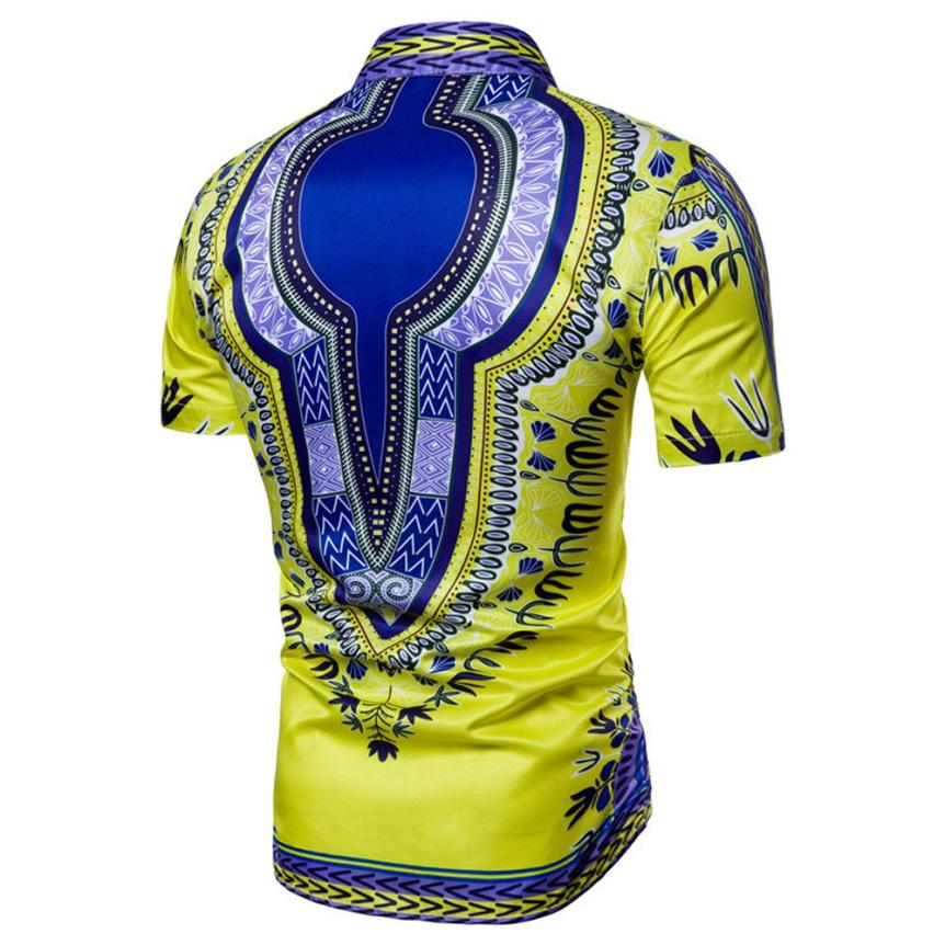 Mens African Dashiki Graphic Shirt