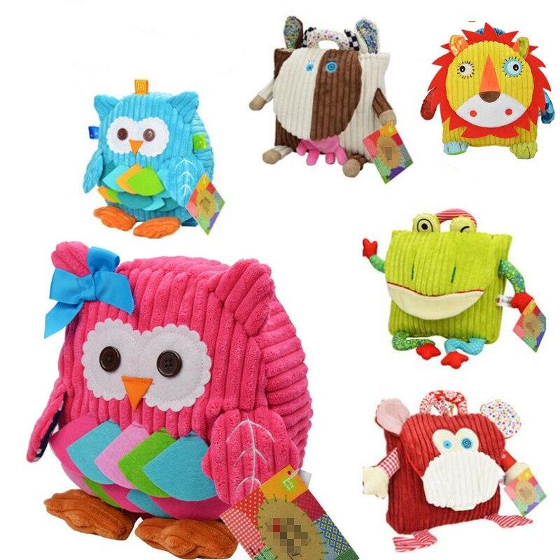 5 Styles mignon dessin animé enfants emballage alimentaire pique-nique sacs maternelle en peluche sac à dos sac kid sacs d'école 10% de réduction