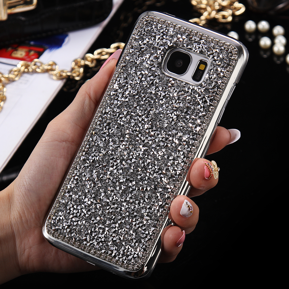 huge discount cbf0f 92785 FLOVEME For Samsung S8 Plus S6 S7 Edge Case Luxury Rhinestone Glitter Cover  For Samsung Galaxy S7 Edge S6 S8 Plus Cases Fundas-in Fitted Cases from ...