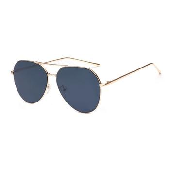 VictoryLip 2017 Fashion Rose Gold Brand Designer Ladies Sunglasses Women Men Piolt mirror Metal Frame Sun Glasses aviation 10