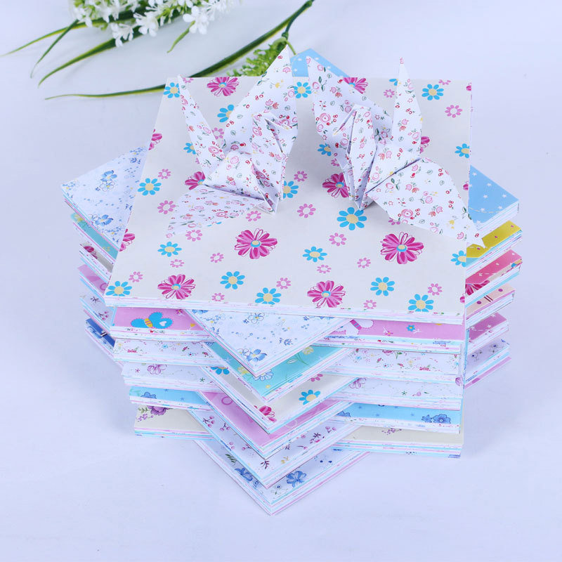 72 Pcs Arts Crafts 12 Patterns Mixed Origami Paper Background Floral Pattern DIY 15x15cm Beautiful Craft Paper