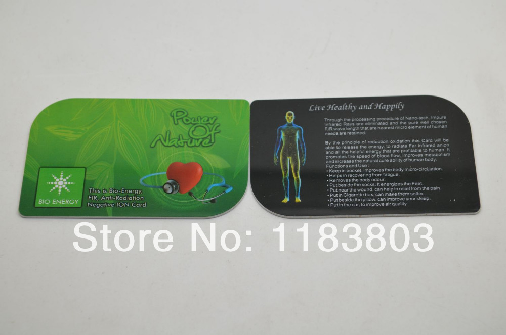 Free shipping pcs lot mm nano health card energy nano card
