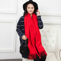 Luxury Brand Cashmere Scarf Women 2015 Fashionable Pure Colors Cape Shawls And Scarves 200 60cm