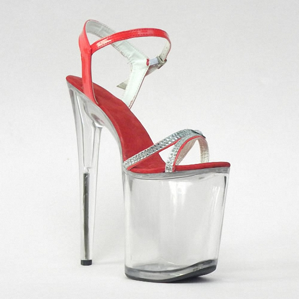 Unique design ultra-high with 20 cm thick set auger bottom heels sandals Han edition lap-dancing appeal of shoes z ultra google edition