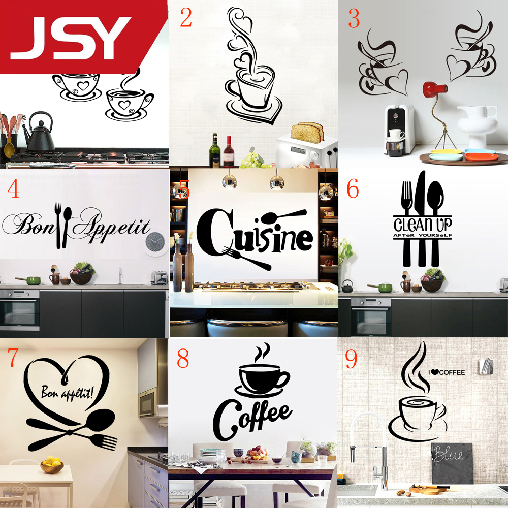 Kitchen Wall Sticker Cuisine Coffee Vinyl Stickers poster house Decoration Accessories Mural Decor Wallpaper wall stickers