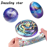 New Crystal Sand Colorful galaxy Cloud Fluffy Slime Squishy Putty Stress Relief Kids Clay cotton mud Slime antistress toy