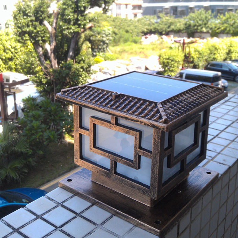 led solar pilar luz jardim solar luz jardim led luz frete gratis 02