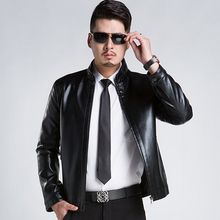 Hot ! 2016 New Arrival Leather Suit Business Casual Slim Leather Jacket Men Plus Size Leather Jacket Men Leather Coat