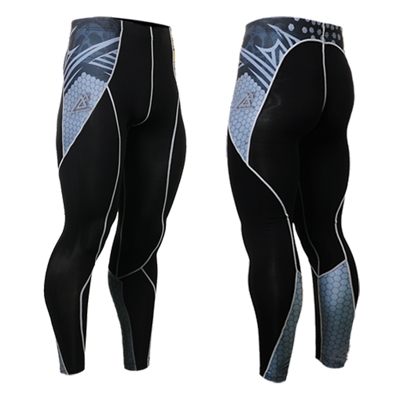 2017 Mens Cycling Pants tight Running Clothing quality cycling pants men Long Pant Trouser Compression Wear