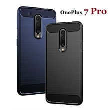 For Oneplus 7 7Pro 6 6T 5 5T Cover Soft Carbon Fiber Bumper TPU Silicone Back Cover For Oneplus 7 7T Bumper Case