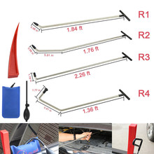 Newly Design PDR Rods Tools Hook Push Rod with 8 pcs tap down heads repair hammer tools pum wedge  & kits