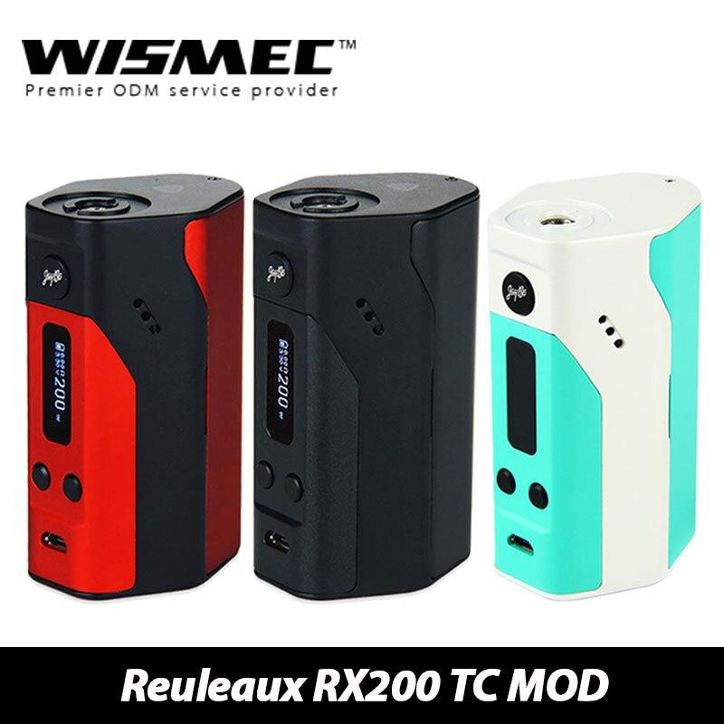 100% D'origine Wismec Reuleaux RX200 TC Mod e cigarette Boîte Mod d'appuyer la mise en-Ni/TC-Ti/TC-SS/VW