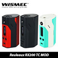 100% original wismec reuleaux rx200 tc mod e caja de cigarrillos mod soporte tc-ni/tc de ti/tc-ss/vw