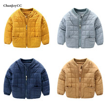 Brand ChanJoyCC Winter Hot Sale Children's Coat Baby Boys  Long Sleeve Casual Fashion  Woolen Coat  cotton 100% Down & Parkas