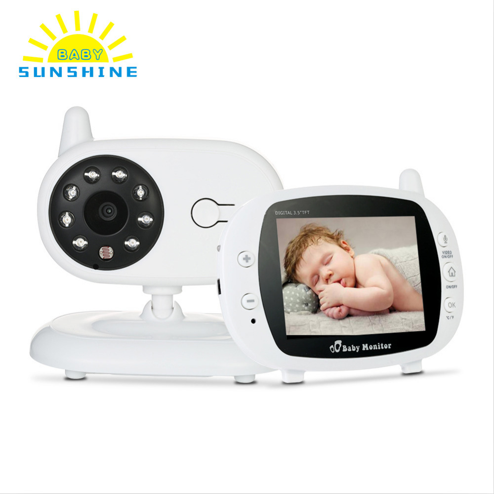 3 5 in LCD Wireless Video Baby Sleeping Monitors with Camera Digital Infrared Temperature Monitoring baba