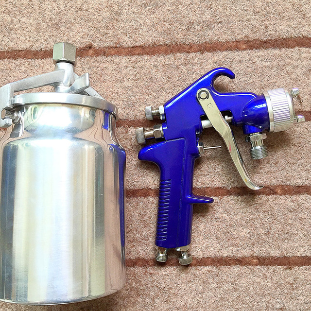 Spray Painting With A Compressor Part - 25: SAT1065 Professional High Compressor Spray Paint Gun Paint For Metal Air  Paint Sprayer For Cars Painting