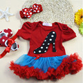 Feikebella Newborn Girl Clothes Sets 100% Cotton Baby Girl Romper Dress + Toddler Shoes+Headband 3 Pcs Infant Suit
