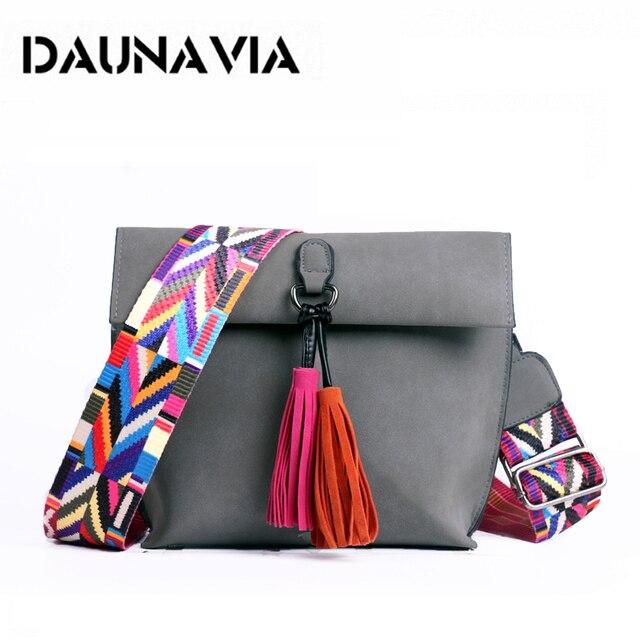 DAUNAVIA Women Messenger Bag Tassel Crossbody Bags For Girls Shoulder Bags Female Designer Handbags Bolsa Feminina Bolsos Muje