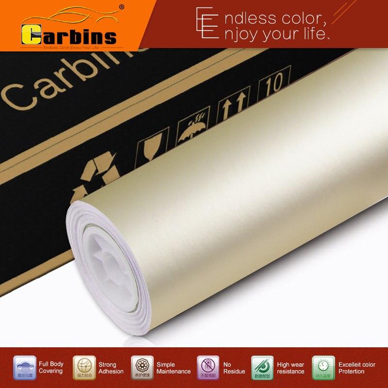 Autocollant d'emballage de voiture en vinyle couleur or champagne glacé