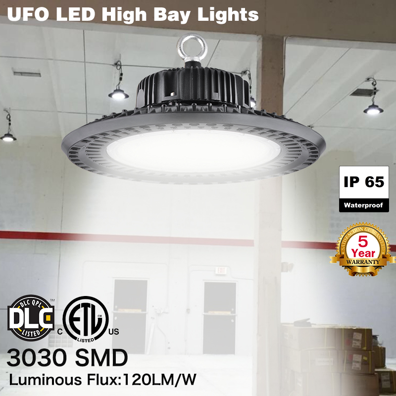 1PC  50W UFO LED High Bay Lights Gym Shop Slim Warehouse Factory Industrial Lamp