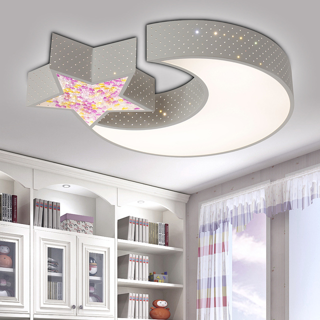 Creative Star Half Moon Led Ceiling Light Child Baby Room Lights Lamps Bedroom Decoration Ferr Shipping