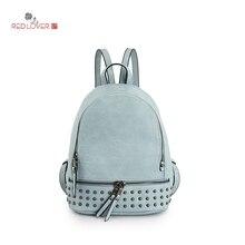 Элегантный Дизайн Женские Рюкзаки простой заклепки Школьные сумки на молнии сумка женская из искусственной кожи Водонепроницаемый рюкзак A1