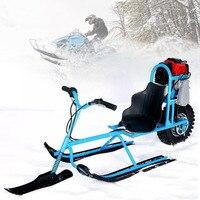 Электрический Лыжный Спорт автомобиль одного совета топлива снегоход направленного Санки Лыжный Спорт Панели для детей Лыжный Спорт обору