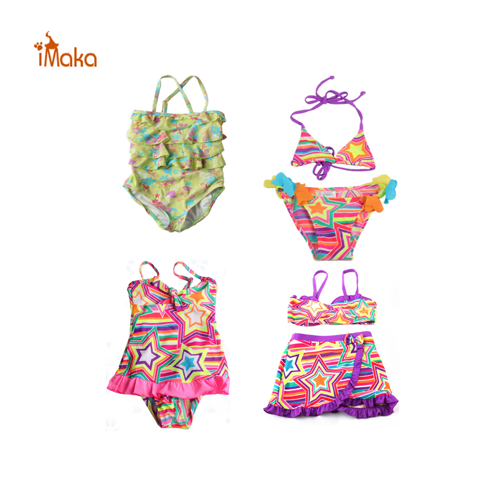 Girls Swim Bikini Suit 2017 New 4-12 Y Children Swimwear kids Swimsuit biquini infantil Beachwear maillot de bain fille Costume