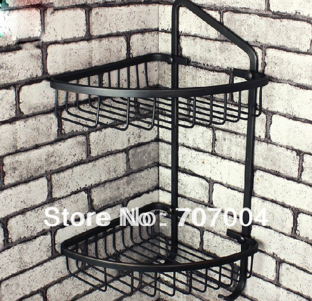 Oil Rubbed Bronze Corner Shower Caddy Basket Bathroom Cosmetic ...
