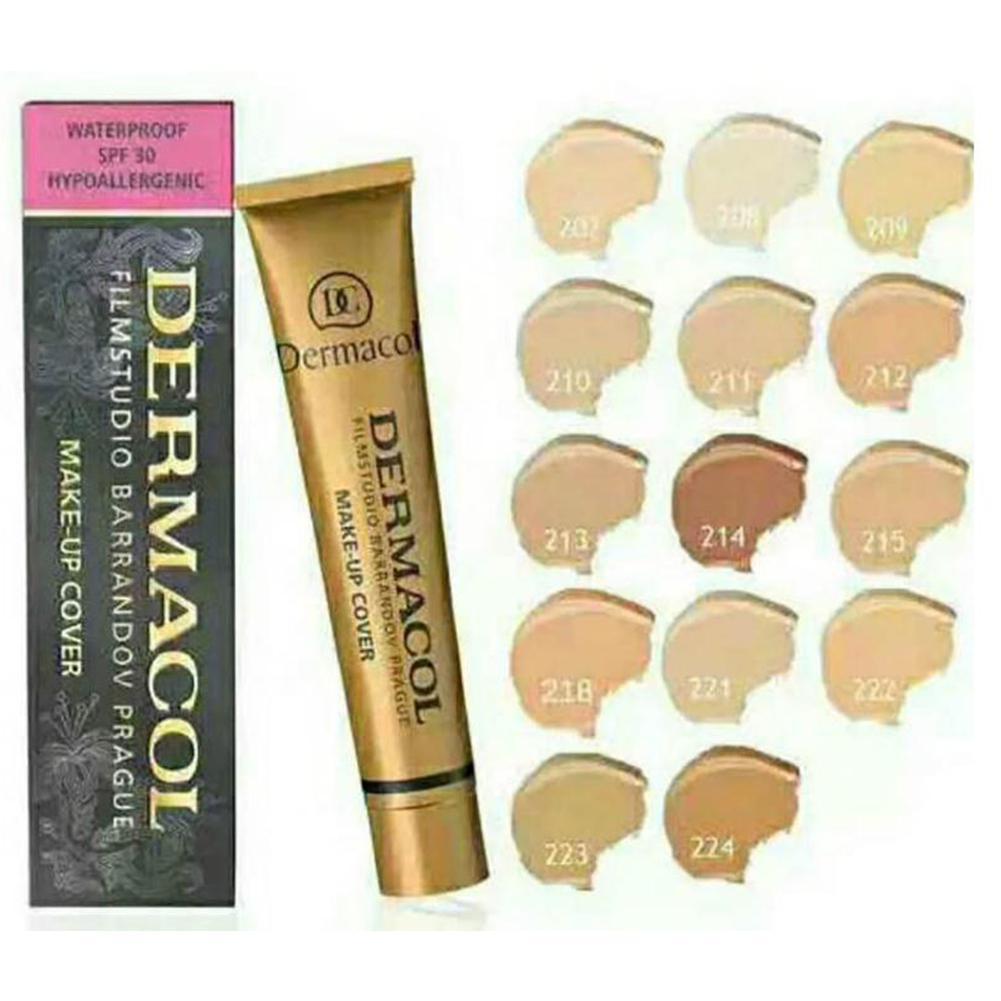 HobbyLane Full 13 Colors Coverage Foundation Long Lasting Waterproof Makeup Cover Cream Eye Dark Concealer Natural Matte Finish