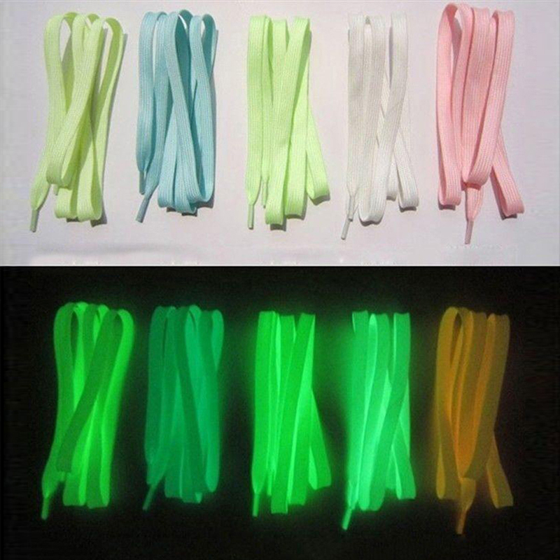 3 Pair Sport Shoes Lace 1M Polyester Neon Color Luminous Fluorescent Shoelaces