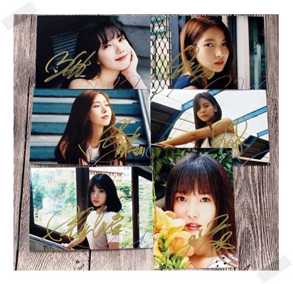 signed  GFRIEND  autographed photo RAINBOW  6 inches freeshipping 2 versions 102017