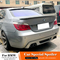 AITWATT For BMW E60 M5 520 525 528 535 Rear Black Spoiler 2004 2010 High Quality ABS Material Car Tail Wing White Spoiler