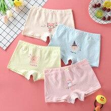 4pcs/lot Children Girls Cartoon Panties Rabbit Print Shorts Cute Teenage Cotton Underwear Kids Animal Underpants Baby Clothes