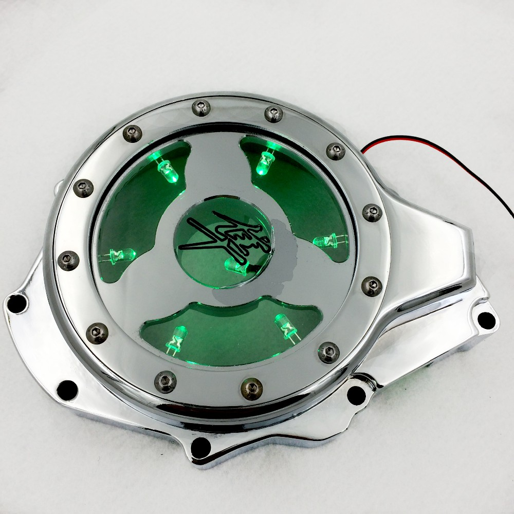 Aftermarket free shipping motorcycle accessories Aluminum Billet Engine Stator cover see through for Suzuki 2005-2008 GSXR1000 aftermarket free shipping motorcycle accessories green led see through engine clutch cover for suzuki gsx1300r hayabusa b king