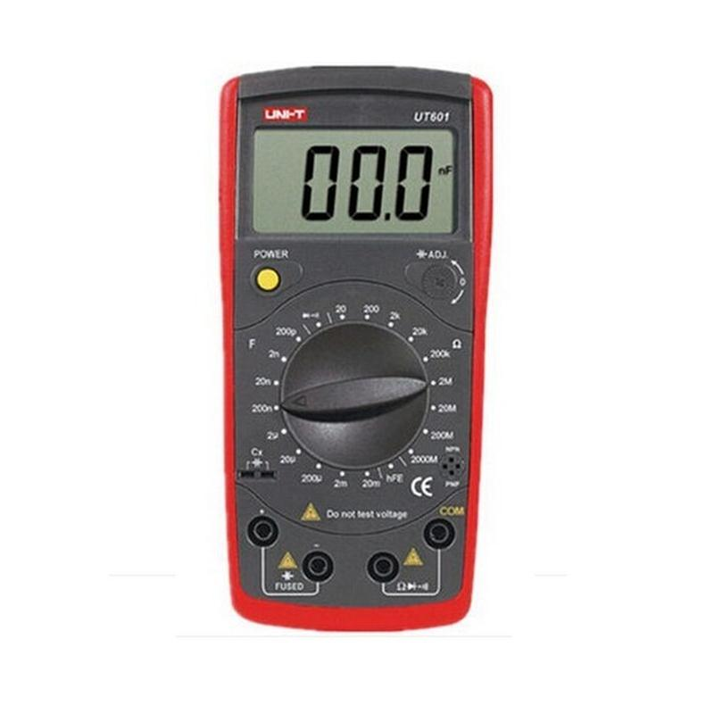 UNI T UT601 Inductive Capacitance Meter, Resistor / Capacitor / Diode / Transistor Test On Off Beep Low Voltage Display